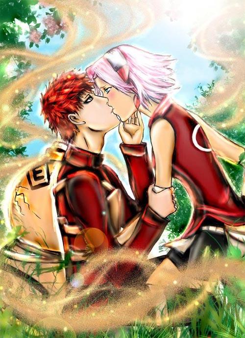 Гаара и сакура? неужели это настоящая любовь?